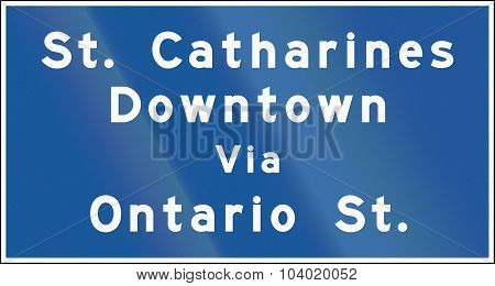 Guide Road Sign In Ontario - Canada