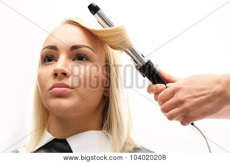 Modeling hair curling iron