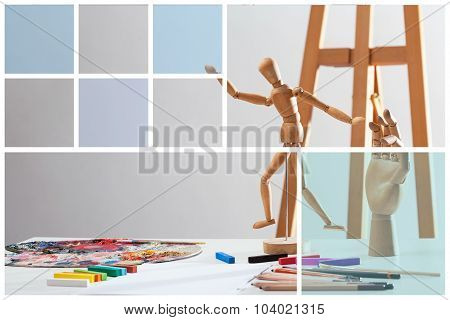 Creative Picture Of Wooden Mannequin