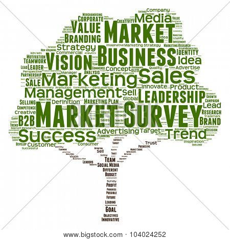 Concept or conceptual green tree leadership marketing or business word cloud on white background wordcloud