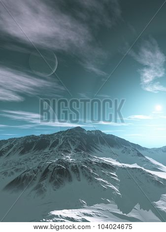 Mountains of an Alien Planet