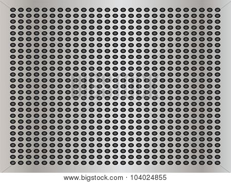 High resolution concept conceptual gray metal stainless steel aluminum perforated pattern texture mesh background