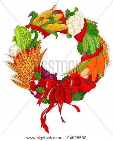 Autumn Welcome vegetables design