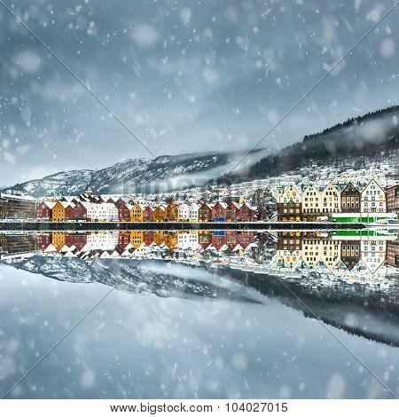 view on Bruges. Bergen. Norway