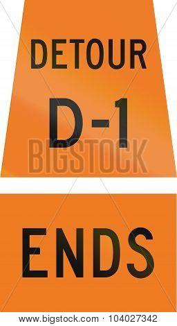 Detour D-1 Ends In Canada