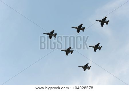 Group Of Airplanes Yak-130