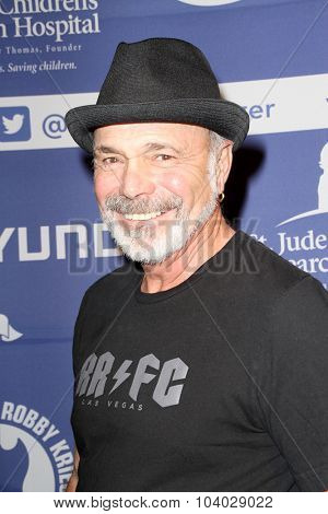 MOORPARK, CA - OCT 5:  Danny Seraphine arrives at the 8th Annual Medlock/Krieger Invitational Golf Concert at the Moorpark Country Club in Moorpark, CA on October 5, 2015.