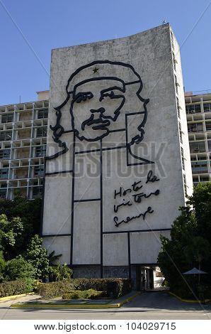 Che Guevara Mural in Havana (Cuba)
