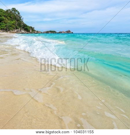 Beach And Waves At Similan National Park In Thailand
