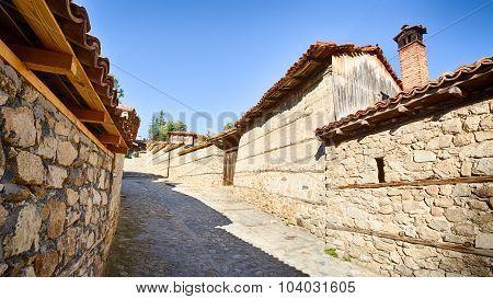 Cobblestone Street In Koprivshtitsa