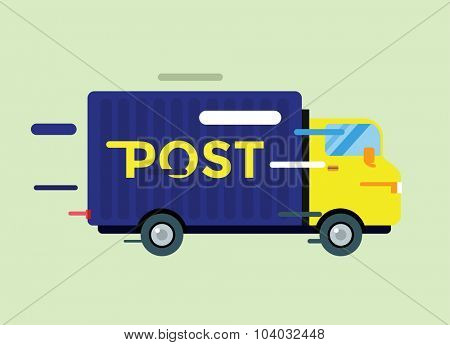Delivery vector truck. Delivery service van. Delivery van vector silhouette. Delivery car icon. Fast delivery truck isolated. Vector delivery truck car driving fast. Delivery truck vector car. Post