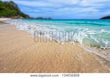 Tilt Shift Blur Beach At Similan National Park, Thailand