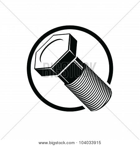 Bolt 3D Detailed Illustration. Professional Work Tools Isolated On White. Repair Theme Vector Three-