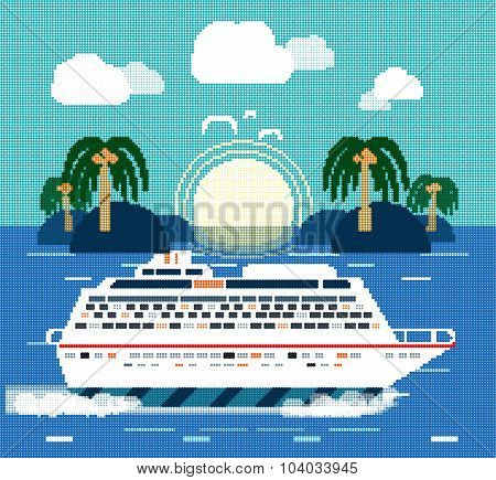Cruise Ship. Water Tourism