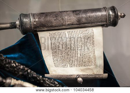 Unwrapped Torah Scroll Silver
