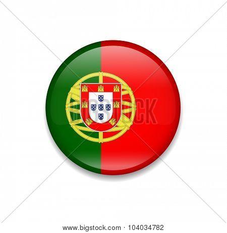 Portugal Button Flag