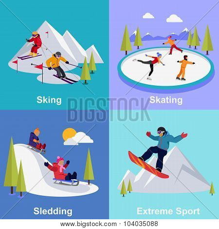 Active Winter Vacation Extreme Sports