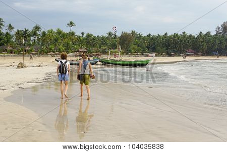 Beautiful Beach In Ngapali, Myanmar