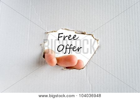 Free Offer Text Concept