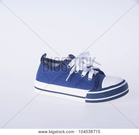 Shoe. Child's Shoes On Background. Child's Shoes On A Background.