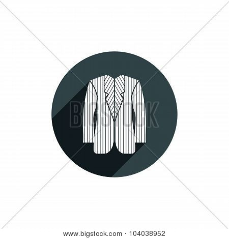 Suit Vector Icon Isolated, fashion theme symbol