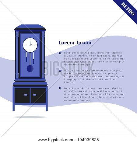 Grandfather ?lock with pendulum
