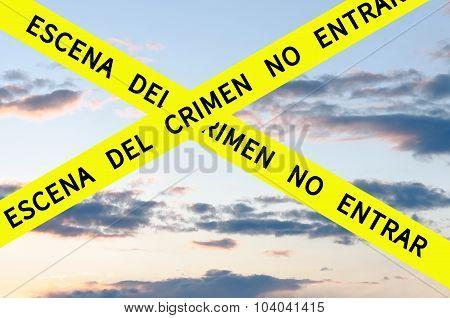 Escena del crimen no entrar
