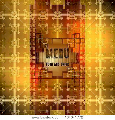 menu ornament gold