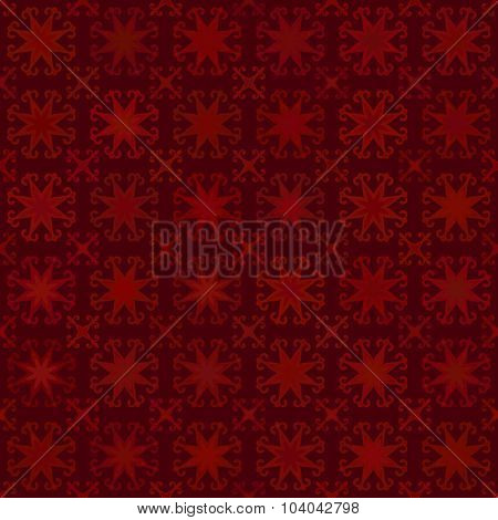 Abstract vector background Seamless arabic texture Maroon color