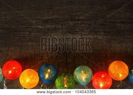 Christmas garland closeup