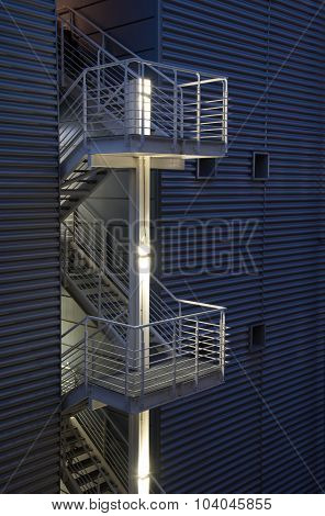 Safety Exit Emergency Metal Modern Stair