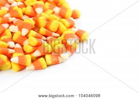 Halloween Candy Corns On White Background
