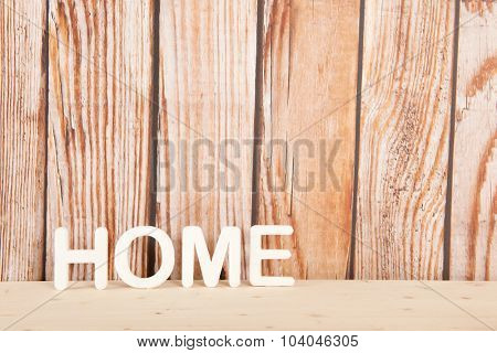 Home decoration in interior with vintage wooden wall
