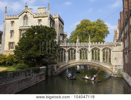 Bridge Of Sighs In Cambridge