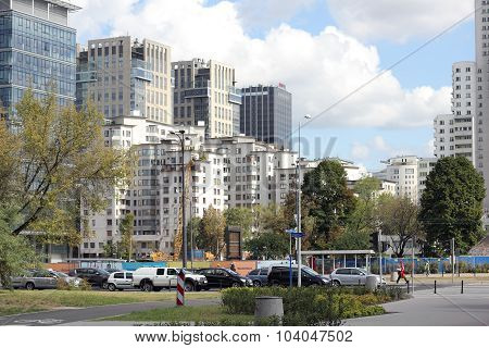 Skyscrapers In The City Centre Of Warsaw, Poland