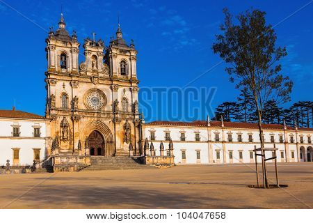 Cistercian monastery in the small Portuguese town of Alcobaca. Built in the Gothic style un Portugal