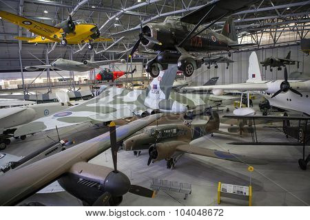Exhibits In The Imperial War Museum At Duxford