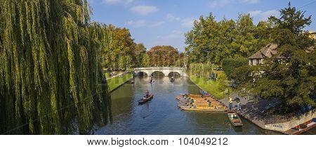 Trinity Bridge In Cambridge