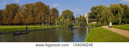 St. John's College And The River Cam In Cambridge