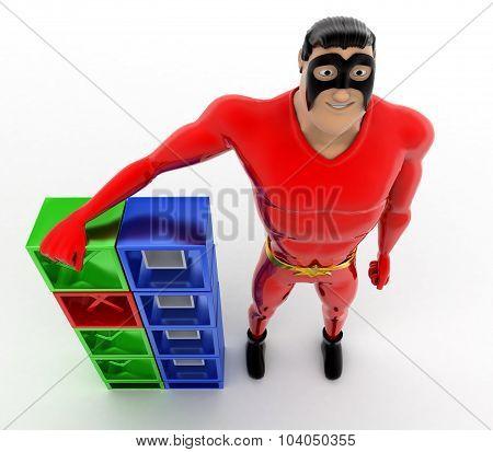 Superhero Check And Uncheck Concept