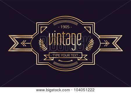 Vintage old style logo icon template