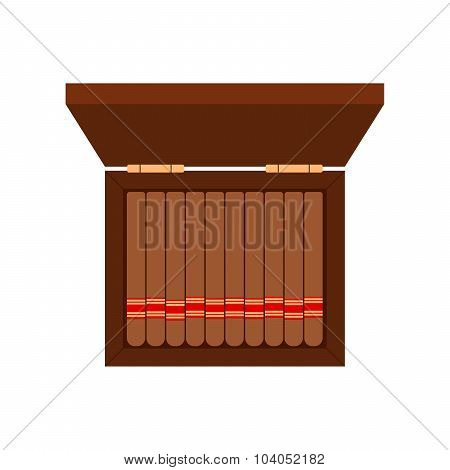 Cigarette Case - cigar flat style white background