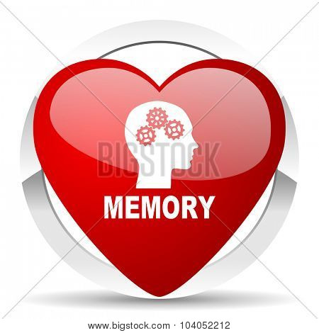 memory red red heart valentine icon on white background