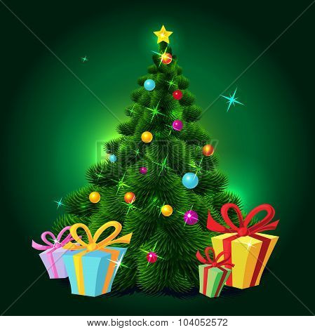 Christmas Tree - Vector Illustration