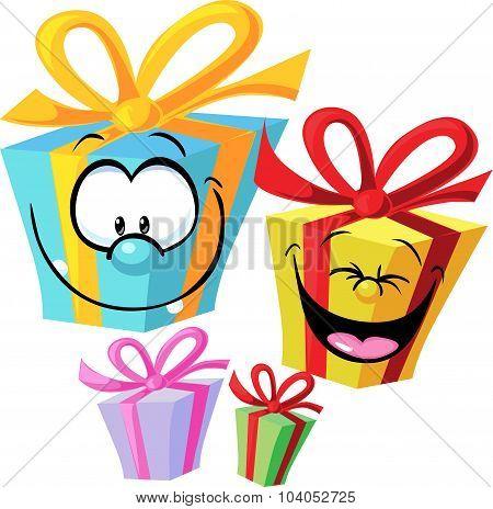Gift - Funny Vector Illustration