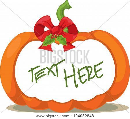 Pumpkin Label - Vector Illustration