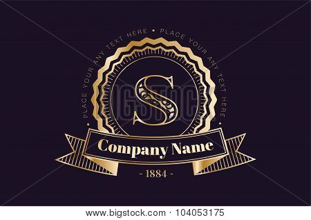 Vintage old style logo icon monogram