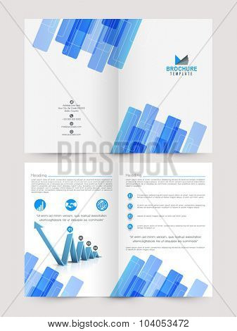 Creative stylish Two page Business Brochure, Flyer, Banner or Template with infographic layout.