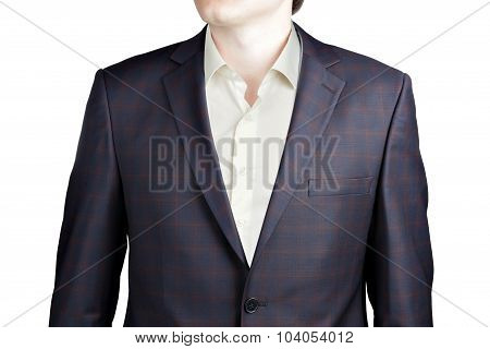 Brown Plaid With Blue Windowpane Suit