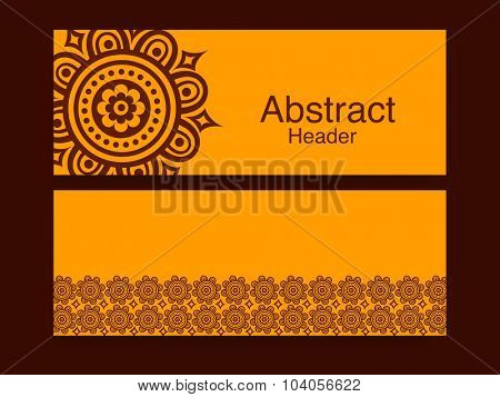 Abstract website header or banner set for your business.